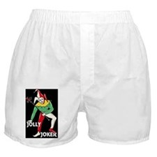 Jolly Joker Poker black T shirt Boxer Shorts