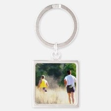 runners16x20 Square Keychain