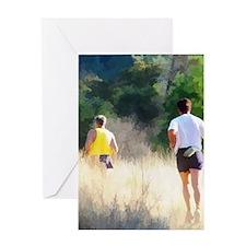 runners16x20 Greeting Card