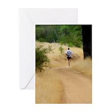 runner16x20 Greeting Card
