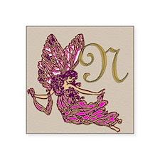 "Fairy Monogram BN Square Sticker 3"" x 3"""