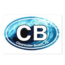 CB.Clearwater Beach.Wave Postcards (Package of 8)
