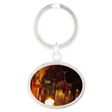 Candlelight bottle3-magnet Oval Keychain