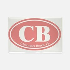CB.Clearwater Beach.Dutch.pink Rectangle Magnet