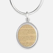 1087 TBCXSX DEAR SANTA Silver Oval Necklace