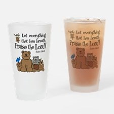 psalm 150 6 critters1 Drinking Glass