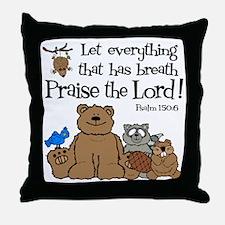 psalm 150 6 critters1 Throw Pillow