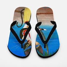 Calico Hula Queen Flip Flops