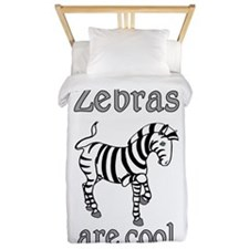 Zebras are Cool Twin Duvet