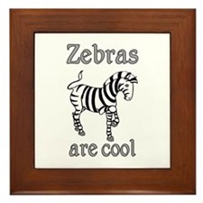 Zebras are Cool Framed Tile