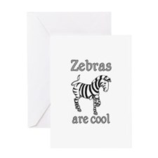 Zebras are Cool Greeting Card