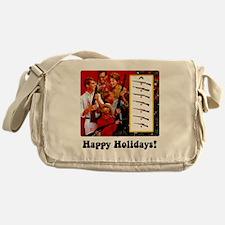 gun show holiday card Messenger Bag
