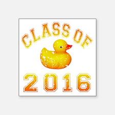 """CO2016 Rubber Duckie Orange Square Sticker 3"""" x 3"""""""