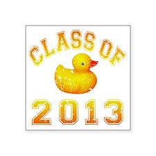 """CO2013 Rubber Duckie Orange Square Sticker 3"""" x 3"""""""