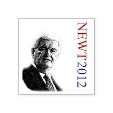"Newt For President onWhite Square Sticker 3"" x 3"""