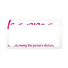 karma-2011-pink License Plate Holder