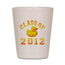 CO2012 Rubber Duckie Orange Red Distres Shot Glass