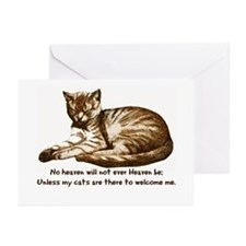 No Heaven Without Cats Greeting Cards (Pk of 10)
