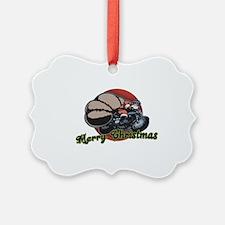 Santa-bike-CAP Ornament