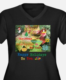 HAPPY HOLIDAYS TO YOU KINDNESS LEAF. Women's Plus