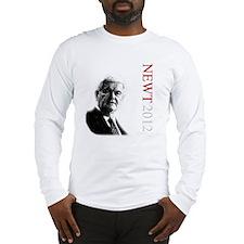 Newt For President onBlack Long Sleeve T-Shirt
