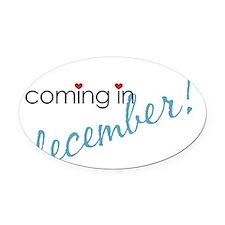 december Oval Car Magnet