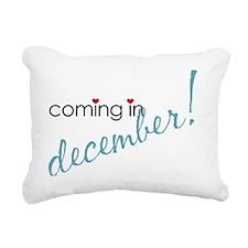 december Rectangular Canvas Pillow