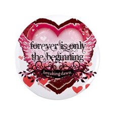 "forever is only the beginning red hear 3.5"" Button"