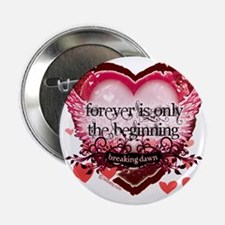 """forever is only the beginning red hea 2.25"""" Button"""