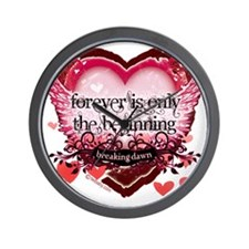 forever is only the beginning red heart Wall Clock