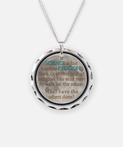 if science religion-moon-dk Necklace