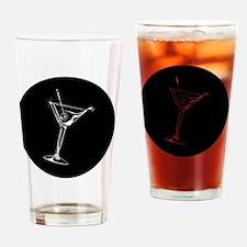 Martini_8Ball_ornament Drinking Glass