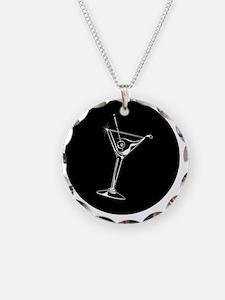 Martini_8Ball_ornament Necklace