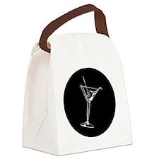 Martini_8Ball_ornament Canvas Lunch Bag