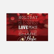 PDI Holiday Card w/ words (Red Co Rectangle Magnet