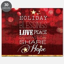 PDI Holiday Card w/ words (Red Cover) Puzzle