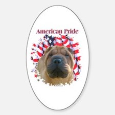 Shar-Pei Pride Oval Decal