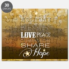 PDI Holiday Card w/ words (Gold Cover) Puzzle