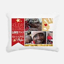 PDI Holiday Card w/ word Rectangular Canvas Pillow