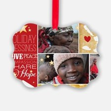 PDI Holiday Card w/ words  pictur Ornament