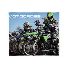 MotoCross Calendar Cover Throw Blanket