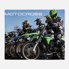 MotoCross Calendar Cover Throw Blanket