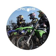 MotoCross Calendar Cover Round Ornament