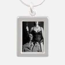 americangoth001journal Silver Portrait Necklace