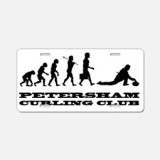 evolution of curling with l Aluminum License Plate