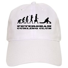 evolution of curling with large logo Baseball Cap
