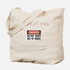 Not crazy Tested dark 6000 Tote Bag
