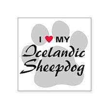 "icelandic-sheepdog Square Sticker 3"" x 3"""