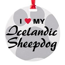 icelandic-sheepdog Round Ornament