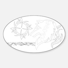 Jacob Tribal White Decal